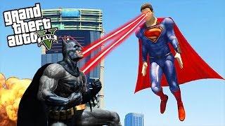 GTA 5 Mods - SUPERMAN VS BATMAN (GTA 5 Mods Gameplay)