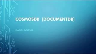 Cosmos DB / DocumentDB - TAMIL