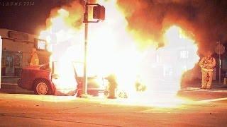 Car Fire / March 2014 / LAFD / HD