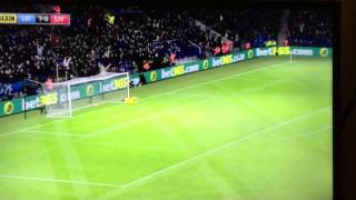 Jamie Vardy goal Vs Liverpool - 2/2/16