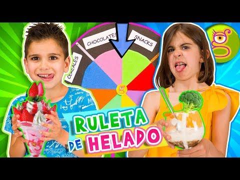 RULETA DE HELADO CHALLENGE - Helado Asqueroso Vs Delicioso