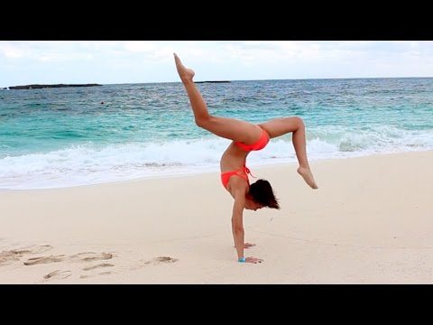 GYMNASTICS AT THE BEACH!