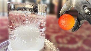 Bola al Rojo sobre Hielo transparente / Hot nickel ball Vs Clear Ice