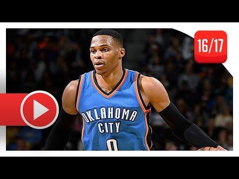 Russell Westbrook Full TD Highlights vs Knicks (2016.11.28) - 27 Pts, 18 Reb, 14 Ast (OKC Feed)
