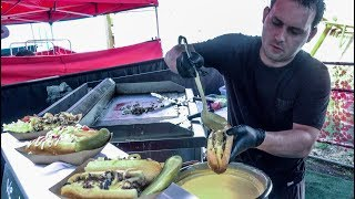Philly Cheesesteak Drowned in Melted Cheese. Street Food of London