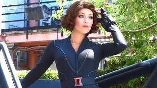 Black Widow Heroic Encounter character meet-and-greet appearance at Disneyland