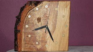 Schöne Eichenuhr aus Reststück / Beautiful Oak Clock from scrap - diy