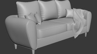 3dsmax Sofa and pillow modeling