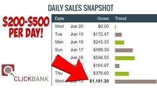 How To Make $200 to $500 Per DAY With Clickbank  | Clickbank For Beginners