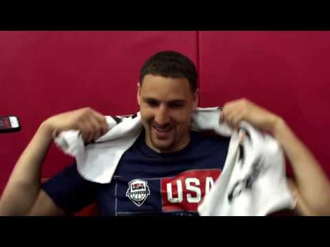 Entire Klay Thompson post-practice interview, 2016 Team USA Basketball #USABMNT