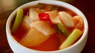 Vegetable and Fruit Water Kimchi (Nabak-kimchi: 나박김치)