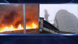 London Helicopter Crashes into a Crane Vauxhall London - EYEWITNESS