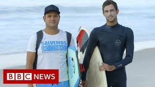 Why a love of surfing brings rich and poor together in Rio - BBC News