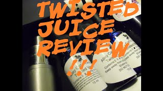 Alley Cat Vapors Twisted Line  2 juice review: SUNDAY & VANILLA +monster/monkey recap~!