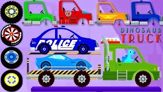 Car Driving for Kids : Truck Driver - Monster Truck | Cartoons for Kids : Car, Police Car, Tractor
