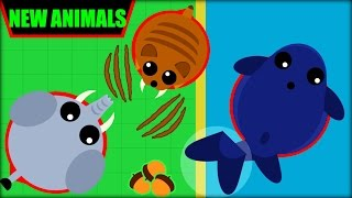 MOPE.IO 3 NEW ANIMALS | ELEPHANT, BLUE WHALE & SABERTOOTH | MOPE.IO NEW UPDATE(Mope.io)