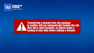 How to Transfer Your Domain Between Your 1&1 Accounts
