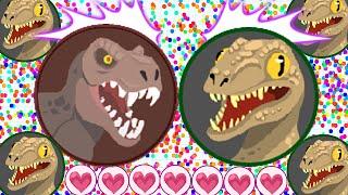 Agar.io Easy Winning With Team Raptor Dinosaur Skin Taking Down The Server! (Agario Best Moments)