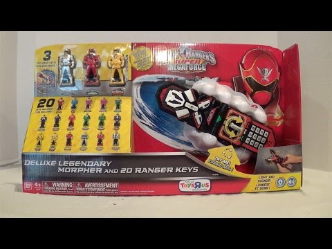 Deluxe Legendary Morpher and 20 Ranger Keys Review [Power Rangers Super Megaforce]