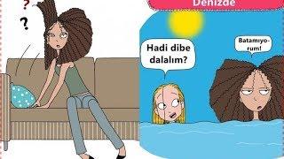 Kıvırcık ve Uzun Boylu Kızların Yaşadığı Durumları Anlatan Eğlenceli Çizimler !!