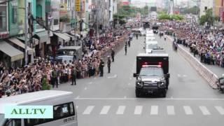 President Barack Obama Motorcade in Sai Gon, Vietnam