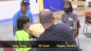 Crokinole 2016 World Championship - Doubles Jong/Jong v Kappes/Bechtel
