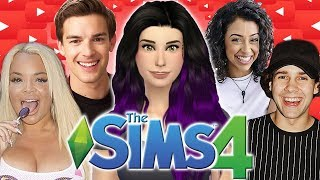 SO MANY YOUTUBERS!! | The Sims 4: YouTuber World
