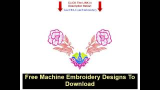 Free Machine Embroidery Designs To Download