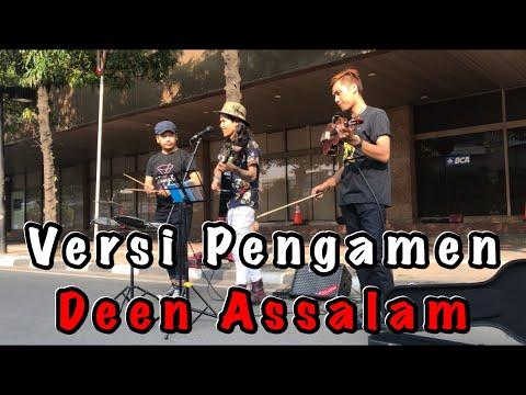 Pengamen bertato ini nyanyi lagu Deen Assalam bikin suasana langsung hening