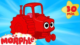 My Red Tractor - My Magic Pet Morphle Vehicle Compilation With Trucks Fire Trucks and More