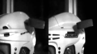 Helmet Testing Video: Bauer 9900 with PORON® XRD® Protection vs Easton S19