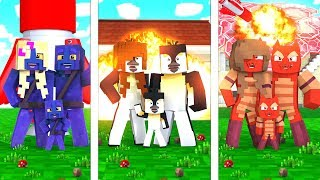 Minecraft - FAMILY BUNKER HOUSE WAR! (NOOB vs PRO vs HACKER)