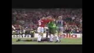 The Final 3 Mins- Man United v Bayern Munich 1999- Rare Pitch Side Footage- Champions League Final