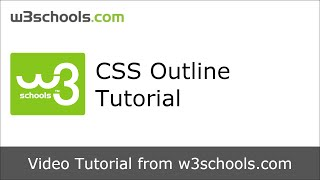 W3Schools CSS Outline Tutorial