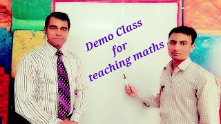 Demo class for teaching maths : Lesson plan for teacher