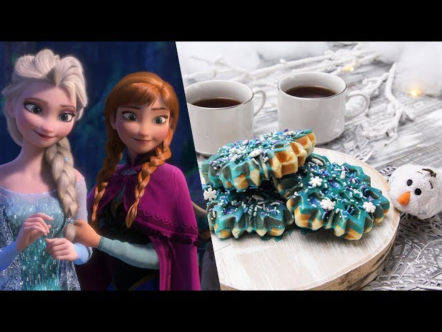 Frozen Snowflake Waffle Donut | Dishes by Disney With Disney Family