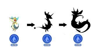 Snivy Evolution Water Type Fanart | Pokemon Type Swap #61