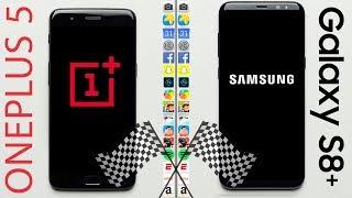 OnePlus 5 vs. Galaxy S8+ Speed Test