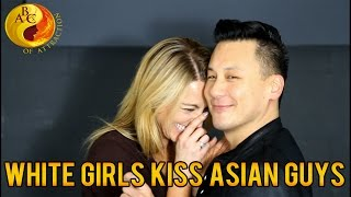 (SFW) White Women Kiss Asian Men For The First Time On Valentine's Day (AMWF)