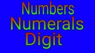 DIGIT || NUMERAL || NUMBER
