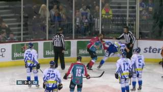 Jim Vandermeer vs Garrett Klotz EIHL fight 2-1-17