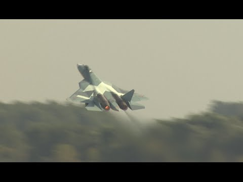 watch Russian 5G PAK-FA T-50 fighter debuts with stunt program at MAKS-2015