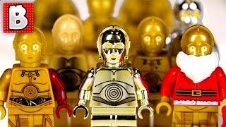 Every Lego C-3PO Minifigure Ever!!! + Rare Gold Chrome C-3PO | Collection Review