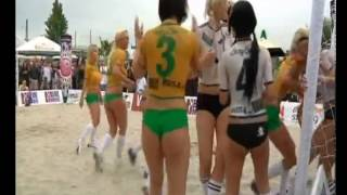 Alemania vs Brasil Chicas en Bodypainting FIFA 2010
