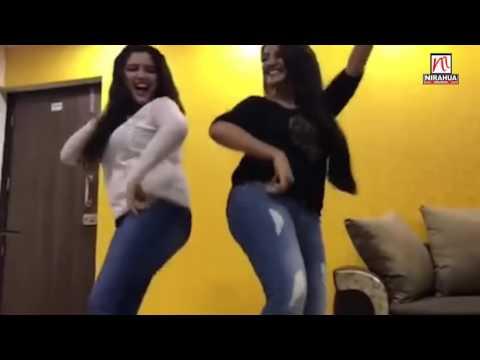 Sexy Akshara and hot Amrapali Dubey Enjoying on Holi Song  2017