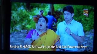 Ecolink EL 880D Software Update And Add Powervu Keys
