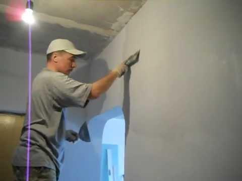 Как шпаклевать стены саманные