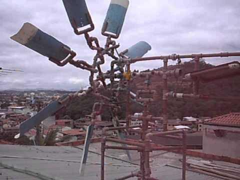Cata vento com sistema de proteção contra ventos fortes