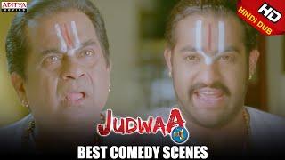 Judwa No1 Hindi Movie Best Comedy Scene Brahmanandam & MS Narayana