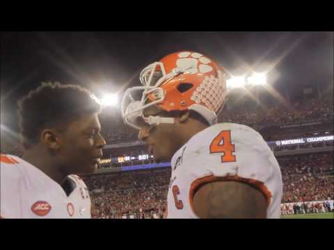 Here s the view of Clemson s sideline as winning touchdown was scored